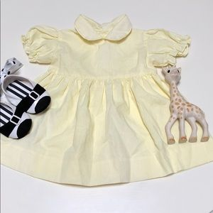 Vintage Yellow Peter Pan Collar Dress | 6-12 Month